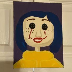 Creepy Coraline handmade painting!